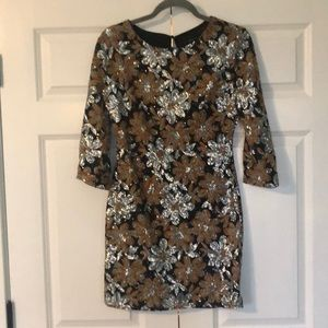 Floral Sequence Dress